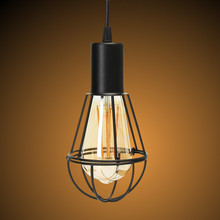 Buy lampshade wire and get free shipping on aliexpress retro vintage e27 lamp base industrial metal cage hanging ceiling pendant light holder lampshade 1m wire greentooth Images