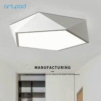 Artpad Ultra thin Ceiling lights Bed Room Living Room Hotel Restaurant Office LED Geometric Ceiling Light Black White AC220V