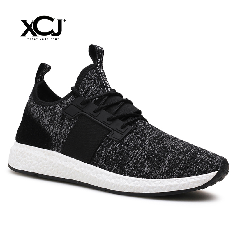 Men Casual Shoes Brand Men Shoes Men Sneakers Flats Slip On Mesh Loafers Fly Knit Breathable Plus Big Size Spring Autumn XCJ plus size 39 44 men spring shoes 2017 spring air mesh shoes men breathable casual shoes for men hombres zapatillas e62