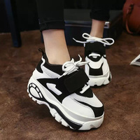 2015 Hot Style Muffin Thick Soled Sneakers High Help Women Platfrom Shoes Casual Elevator Shoes Woman