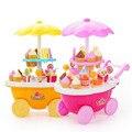 Nova simulação pequeno carrinho de carrinhos de menina mini-doces ice cream shop supermercado das crianças toys jogar home baby toys