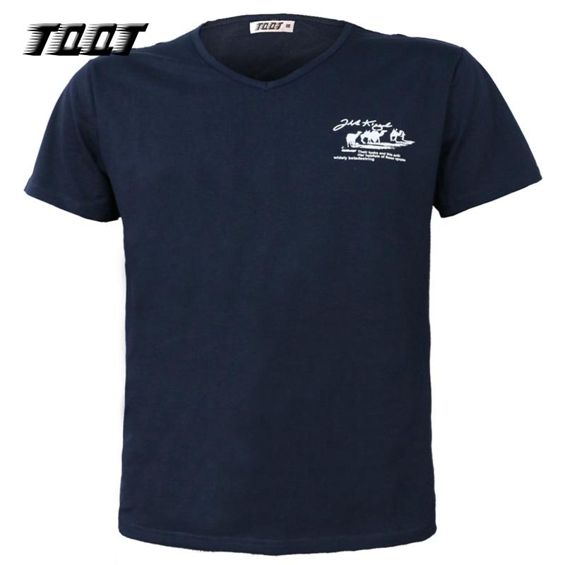 TQQT férfi pólók felső homme v-nyakú póló ujjú ing nyomtatott - Férfi ruházat