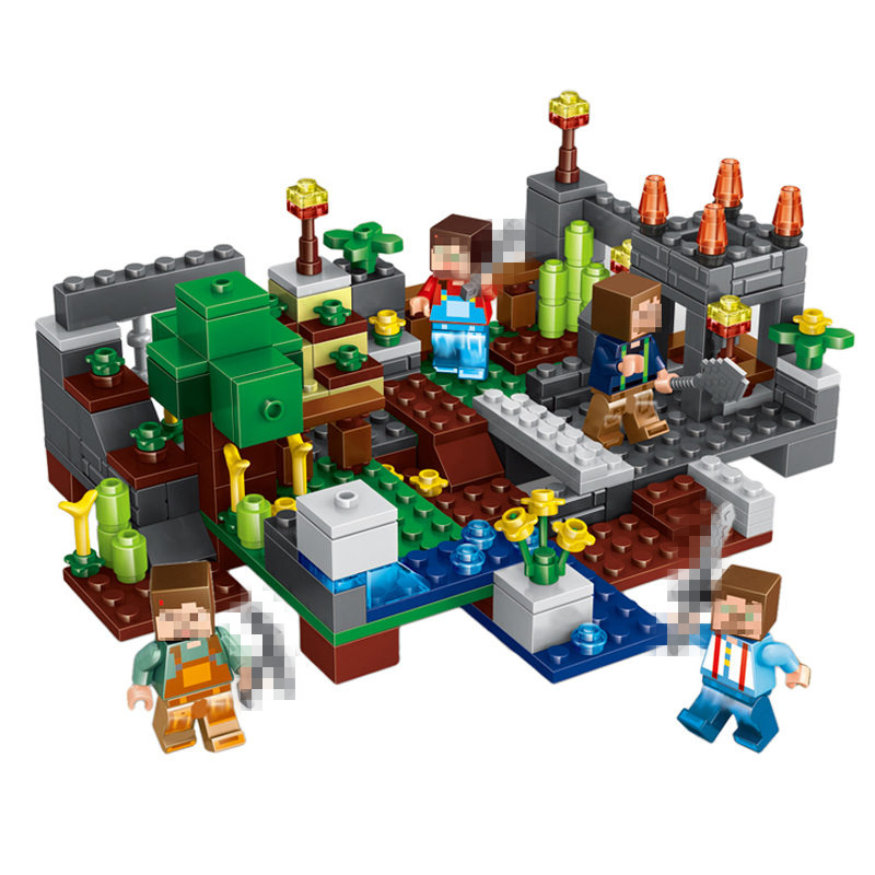 Minecrafted Toys 4 Type Town Group Building Blocks Figures Bricks Educational Toys For Kids Compatible Legoing Minecraft City