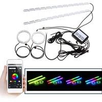 40W Car Auto RGB Flexible Angel Tears Eye LED Strip Light Turn Lights Headlight Ring Mobile