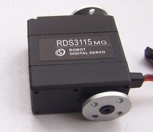 Image 2 - 1XOriginal nhà máy Robot servo 15kg RDS3115 Hộp số kim loại kỹ thuật số servo Arduino servo với Dài và Ngắn Thẳng U