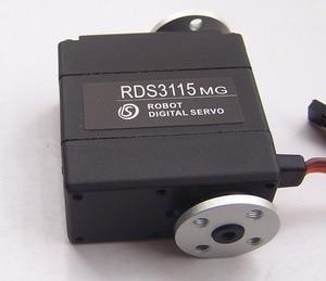 Image 2 - 1xoriginal fábrica robô servo 15kg rds3115 metal engrenagem digital servo arduino servo com longo e curto em linha reta u