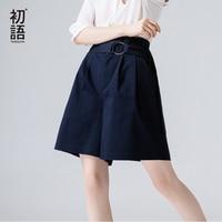 Toyouth Office Shorts Women 2018 Summer Korean Fashion High Waist Shorts Loose Harajuku Wide Leg Shorts With Belt