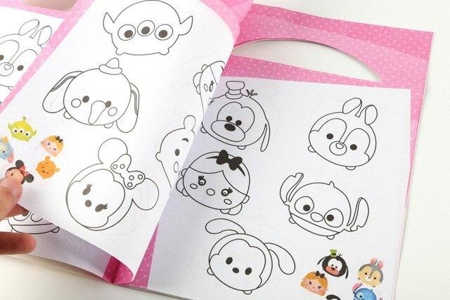 100 pcs/lot Tsum Tsum Minnie Mickey Winnie Dumbo coloring book ...