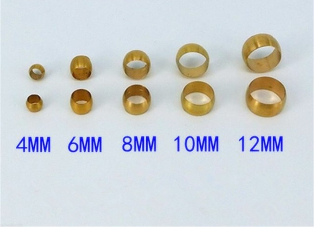 US $2 85 5% OFF|Aliexpress com : Buy 10pcs Brass Swagelok Compression  Sleeve Fitting for 4 16mm O/D Tube from Reliable tube compression fittings