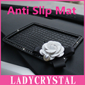 Ladycrystal Diamond Антипробуксовочная Мат Для Автомобиля GPS Мобильный Телефон Коврик Автомобиля Куклы Камелия Силиконовые нескользящей Подушки
