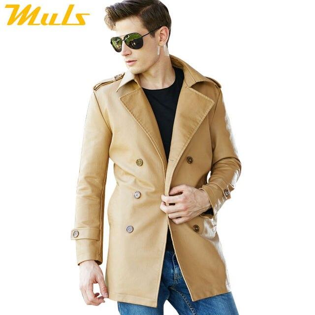 aaad37076f94c Larga chaqueta de cuero estilo casual urban baron chaqueta acolchada de  cuero ligero chaquetas para hombre