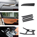 car accessories 6x 100% Real Carbon Fiber Gear Shift Full Frame Cover Trim For BMW X3 F25 2015-2017