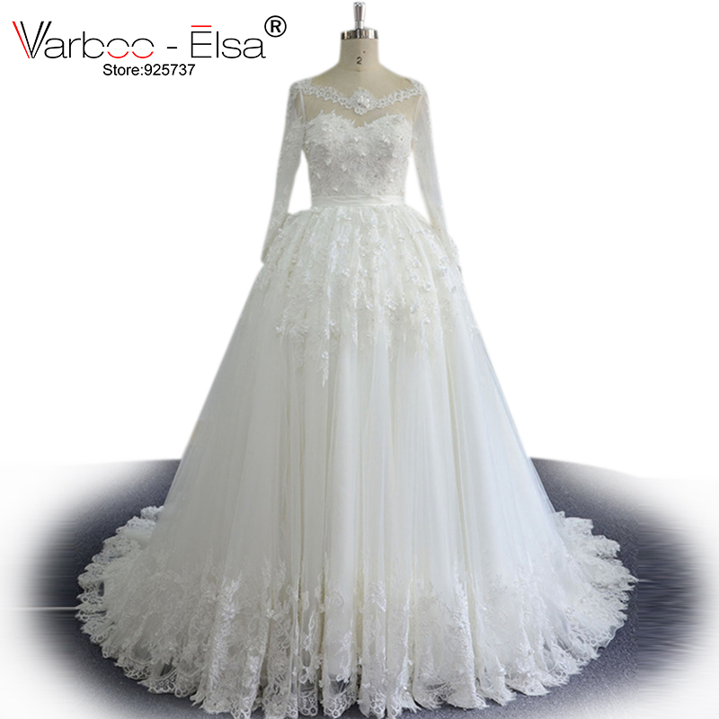 Backless Wedding Gowns For Sale: Hot Sale Long Sleeve Wedding Dress Floor Length V Neck