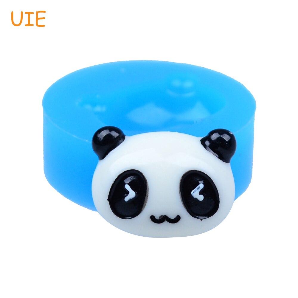 DYL209U 20,2 мм панда головы силиконовые формы для помады, кекс цилиндр, смолы, шоколад, ювелирные изделия, конфет, печенья печенье, Еда безопасный