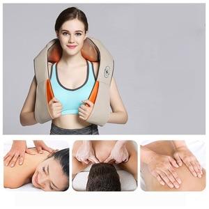 Image 2 - U Shape Electrical Shiatsu Back Neck Shoulder Body Massager Car&Home Use Infrared Stress Relieve Massage Belt Massage Tool