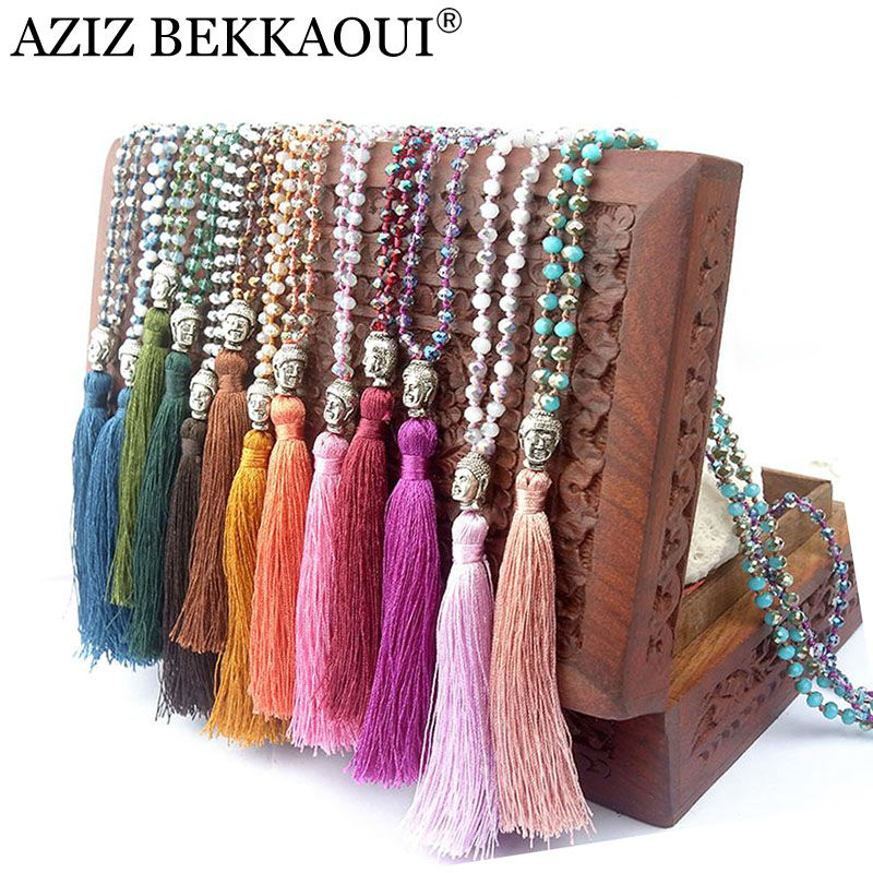 Buy Exclusive Quality Colorful Beads Tassel Bohemian Style Necklaces Buddha
