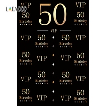 Laeacco Happy 50th 40th 30th Birthday Party Photocall Family Shoot Banner Portrait Photographic Background Photography Backdrops