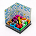 Zcube IQ Link Colorido de Inteligência do Enigma 3D Brinquedos Educativos para Crianças dos miúdos