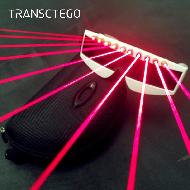 Led Laser Disco Lights Color Music Glasses DJ Stage Ortable Eyeglass Laser Night Lamp Ballroom Bar Holiday Christmas Party Light