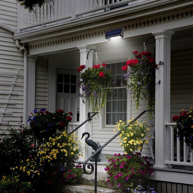 Outdoor 20 LED Solar Power PIR Motion Sensor Garden Yard Wall Lamp Light Super Bright Garage Security Door Lamp Garden Decor