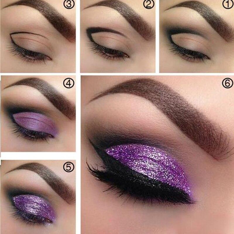 64aa56a33fcba Pudaier 18 Colors Metallic Liquid Eyeshadow Glitter Makeup Eye ...