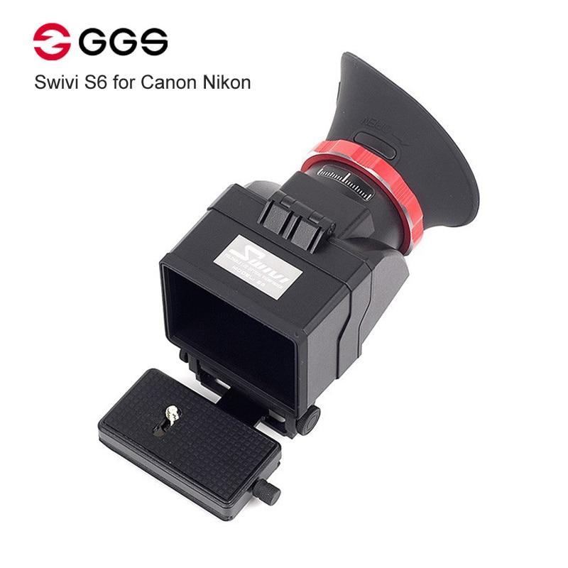 GGS Swivi S6 Viseur avec 3 /3.2 LCD Écran pour Canon 5D2 5D3 6D 7D 70D 750D 760D pour Nikon D7000 D7200 D750 D610 D810 D800