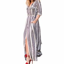 0a42858c4bc8b Popular Black White Striped Maxi Dress-Buy Cheap Black White Striped ...