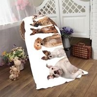 Hot Sale Custom Your Puppy Photos Pets Family Types Of Dog Cool Bath Towel Beach Towel