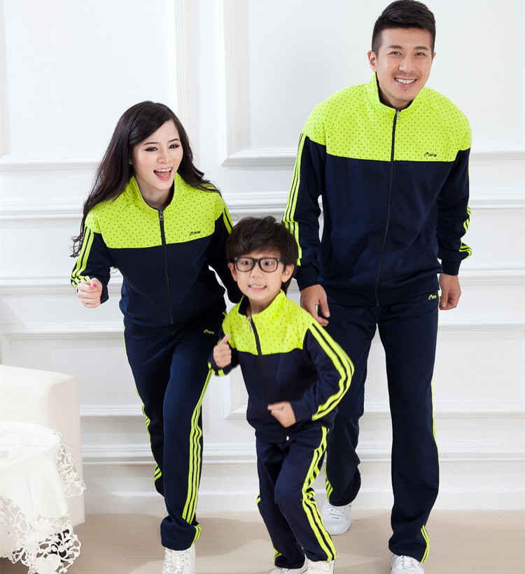 Family Active Clothing Jacket/Coat+Pants 2pcs Clothes Set for Mother Daughter Father Son Children Boys/Girls Clothing Sets BER87