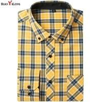 Plaid Shirts Dress 100 Cotton Solid Plaid Shirt Men Spring Casual Shirts Flannel Dress Shirt Camisa