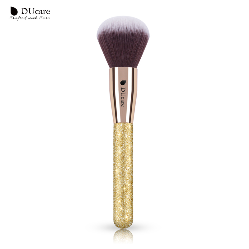 DUcare 1PCS Large Powder Brush Makeup Brush Super Soft Synthetic Hair Face Make up Brush High Quality Brushes hair company крем краска для волос 5 3 светло каштановый золотистый light gomage 100 мл