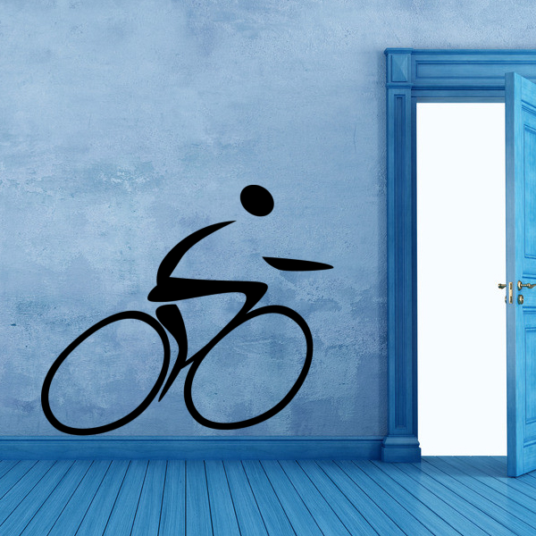 Aliexpress Buy Cycling Sport Sketch Illustrator Wedding Decor Wall Decal Wallpaper Pvc Sticker Bedooms From Reliable Heart