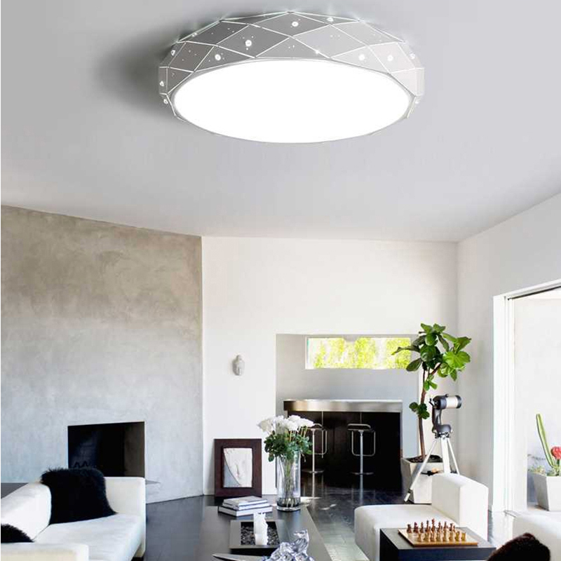 LED ceiling light for living dining room AC85~265V home ceiling decoration lighting fixtures modern led dimming lampara de techo