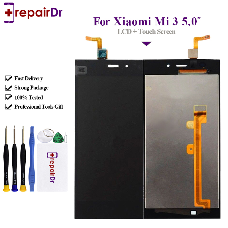 Original For <font><b>Xiaomi</b></font> Mi 3 Lcd Screen Tested AAA 5.0 inch IPS LCD For <font><b>Xiaomi</b></font> <font><b>Mi3</b></font> Lcd <font><b>Display</b></font> With Touch Screen Digitizer Assembly image