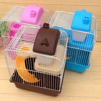 Hamster Cage Hamster Feeding Cage Double Level Mouse Mice Hamster Cage Hamster Villa House Children Kids