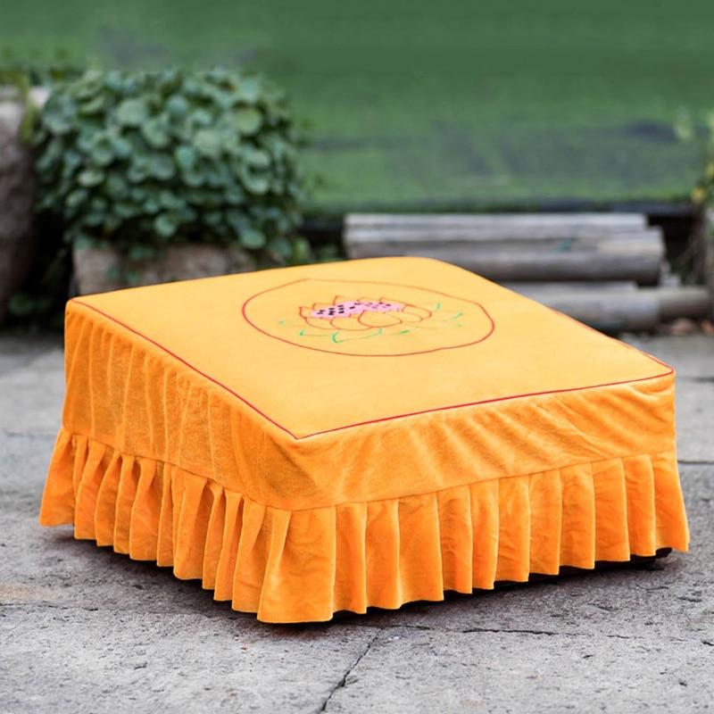 handmade beautiful velvet 7 lotus cover pad buddha supplies embroidery bless prayer kneel mat cover