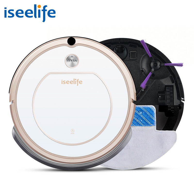 2017 ISEELIFE Smart Robot Vacuum Cleaner for Home 2 in1 PRO1S Dry Wet Mop Auto Charge