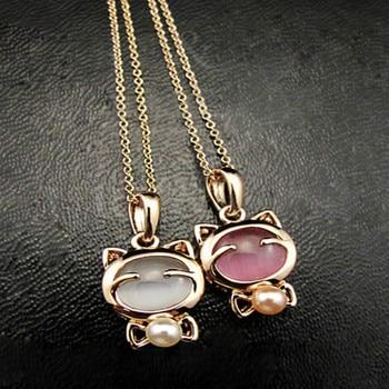 cat pendant necklaces