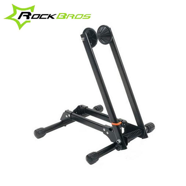 ФОТО RockBros Bike Bicycle Folding Floor Parking Rack MTB Mountain Cycling Sports Parking Storage Stand Foldable Bicycle Stop Rack