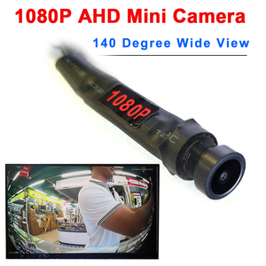 Image 1 - 1080P AHD 140 תואר תצוגה רחבה אודיו מיקרו מיני מצלמה עבור ahd dvr מערכת קטן מיני 2MP ahd מצלמה