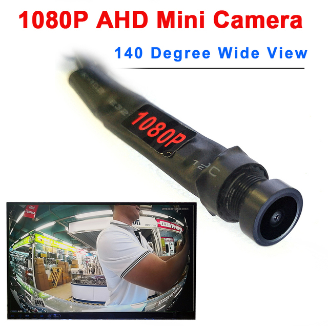 1080P AHD 140degree wide view audio micro mini camera for ahd dvr system small mini 2MP ahd camera