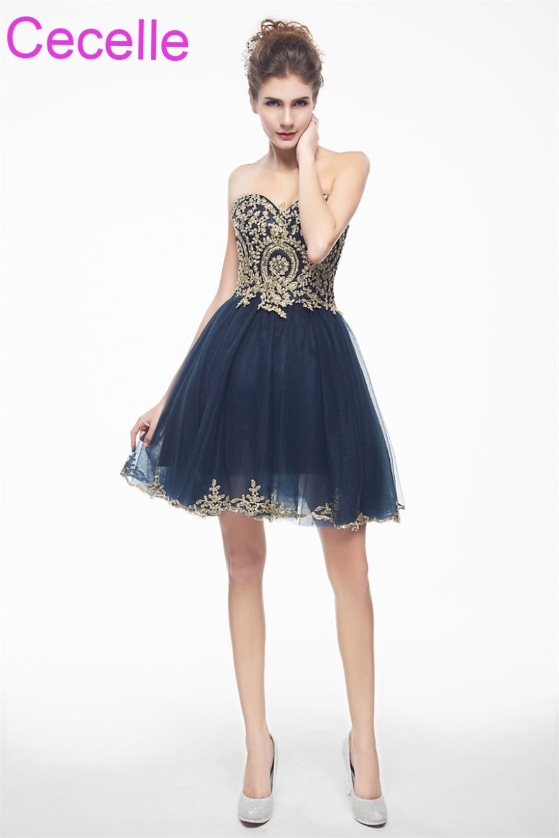 Dark Blue Party Dresses for Juniors