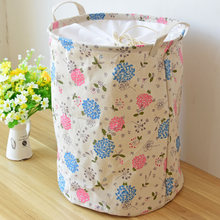 Embroidered Ball Cover Dirty Storage Baskets Clothes Barrel Storage Bags Cotton Dirt Debris Dust  Waterproof  Laundry basket