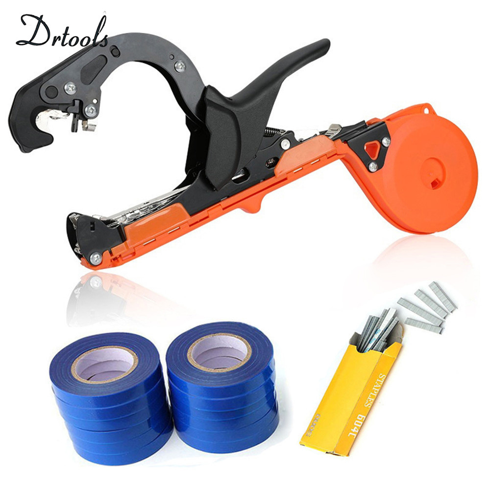 New Garden Tool Plant Tying Tapener Tape Machine Hand Tools Tying Vine Branch Tied Twig Gun Strapping Vegetable Grape Stem