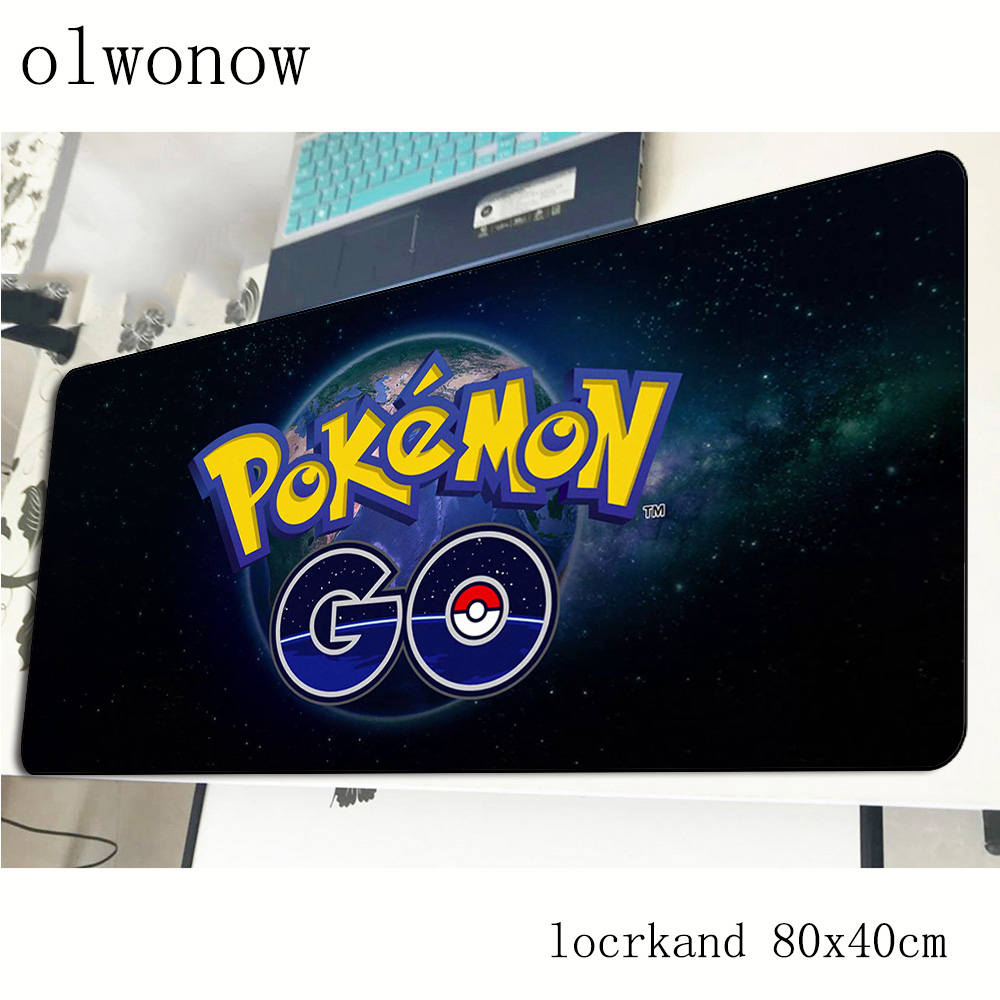 pokemons mouse pad 80x40cm Cartoon mousepads best gaming mousepad gamer Aestheticism personalized mouse pads keyboard pc pad 2