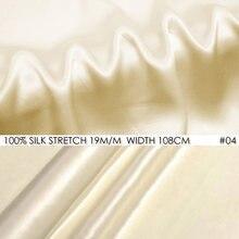 Tecido de cetim estiramento de seda 108cm largura 19 m/m tecido de seda natural decoração de natal toalha de mesa de halloween costura champanhe não 04