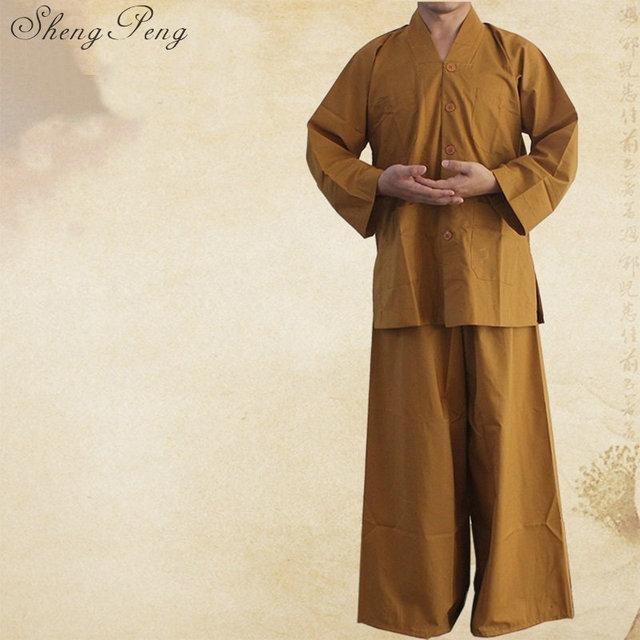 Буддийский монах халаты буддийский монах одежда Китайский традиционный буддийская одежда Шаолинь монах одежда CC088