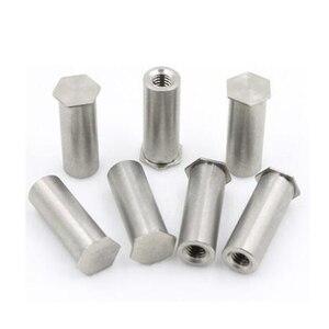 Image 1 - 50Pcs M2 M2.5 M3 M4 M5 M6 PEM Nuts Blind Hole Standoff Stainless Steel 304
