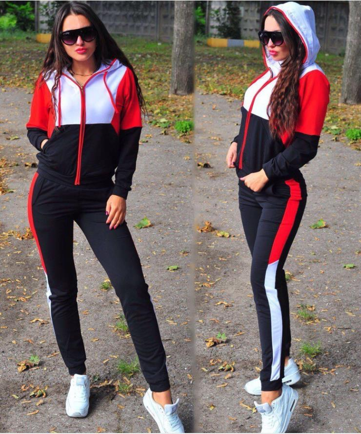 Women Plus Size Tracksuit Two Piece Set Casual Sport Suit Womens 2 Piece Sets Sportswear 2018 Zipper Tracksuit Female