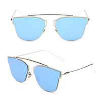 Laura Fairy Fashion Style Brand Designer Sunglasses Butterfly Design Multicolor Mirrored Sun Glasses With High Quality